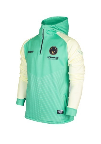 WARM-UP HOODY HALF ZIP TOP(MINT/BEIGE)