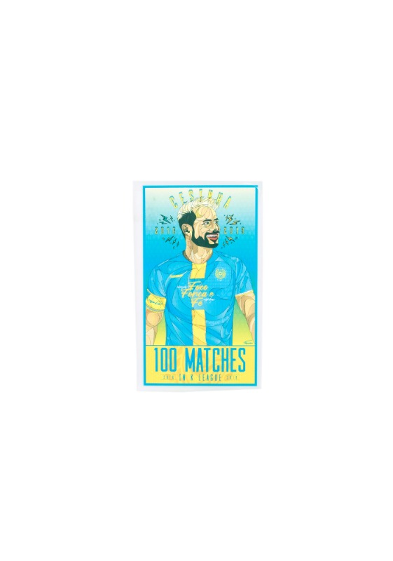 DAEGU FC 'CESINHA 100 MATCHES IN K LEAGUE'  SPECIAL PATCH