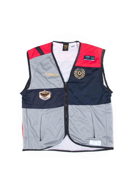 FORWARD X NSS SPORTS REMADE UTILITY VEST (GRAY/RED/NAVY)
