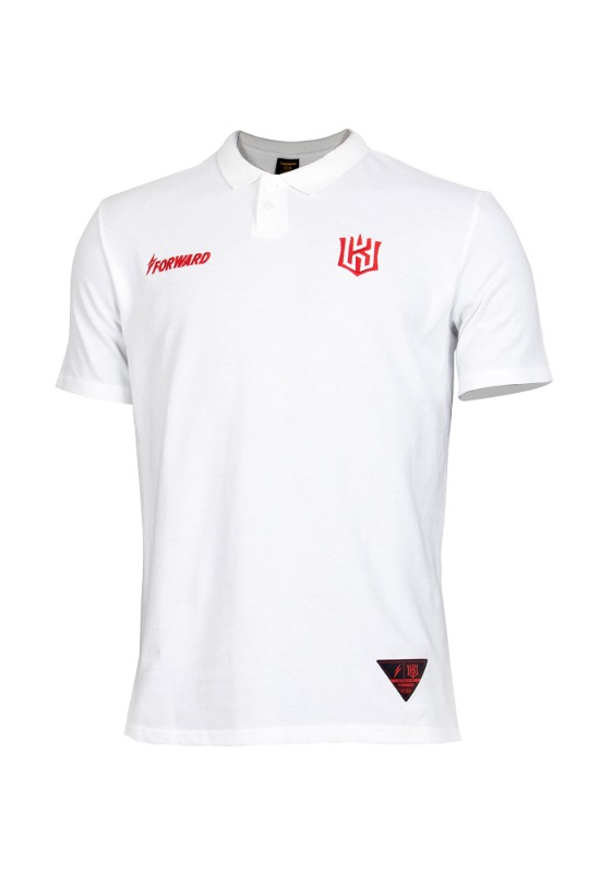 FORWARD kt wiz POLO SHIRTS (WHITE/RED)